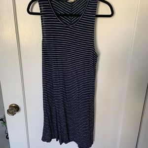 Madewell Chevron Highpoint Tank Dress XL